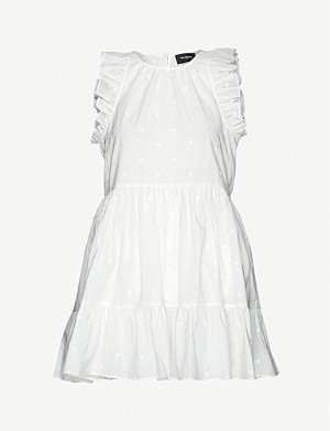 THE KOOPLES Heart-embroidered cotton mini dress