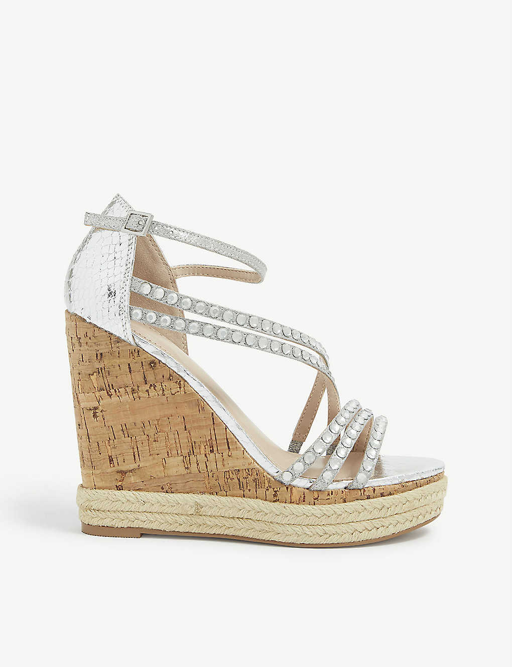 CARVELA: Kingsize faux-leather and cork wedge sandals