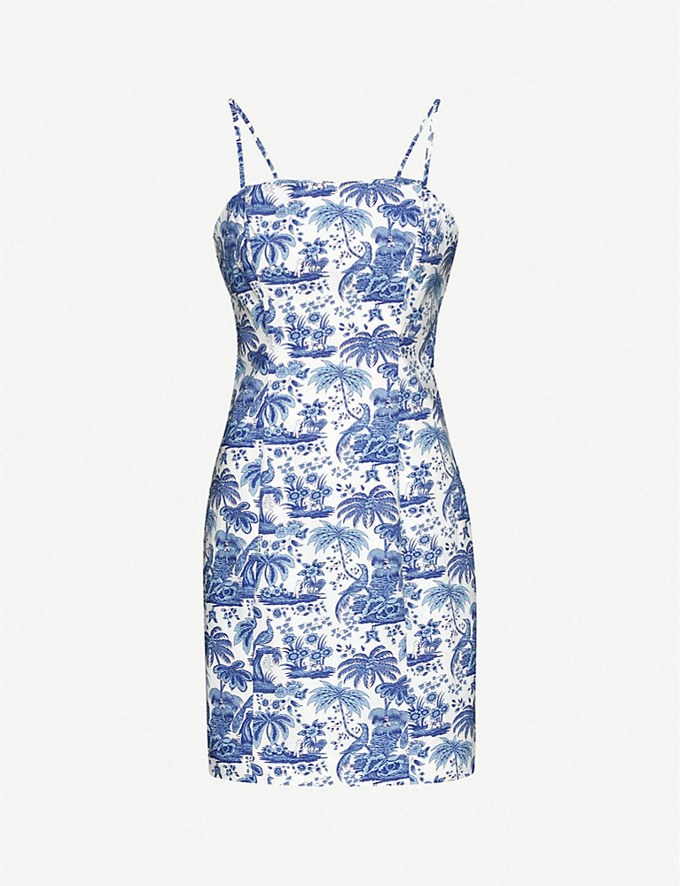 Staud Toile-print stretch-cotton dress