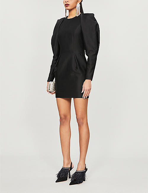 ALEXANDRE VAUTHIER Oversized-sleeve cotton-blend dress