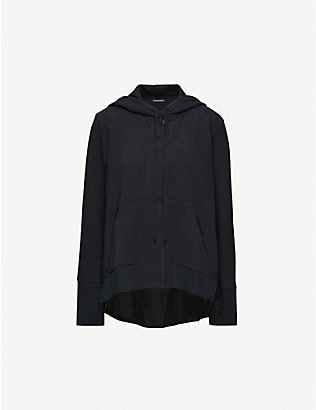 ANN DEMEULEMEESTER: Contrast cotton-jersey and cotton-blend hoody