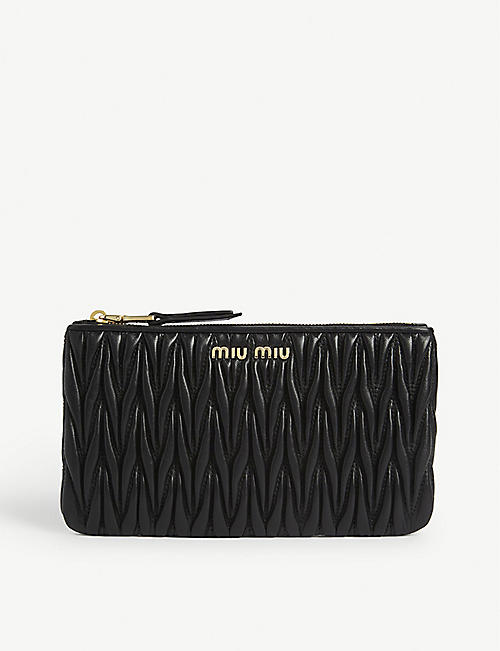 MIU MIU Matelasse quilted leather wallet