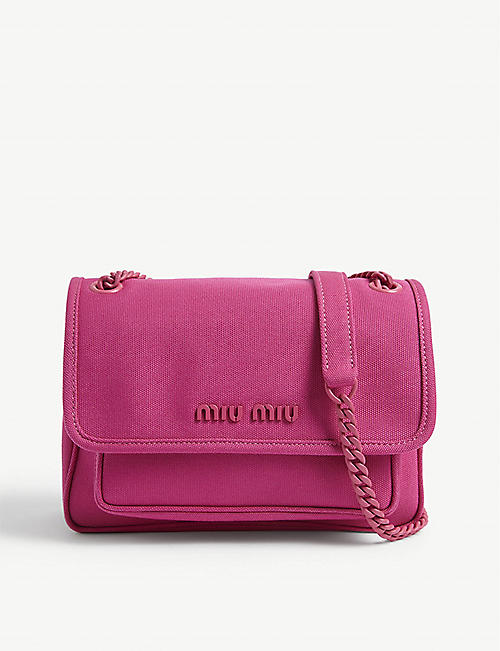 MIU MIU: Canvas shoulder bag