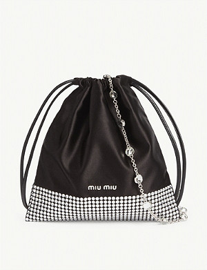 MIU MIU Crystal embellished drawstring bag