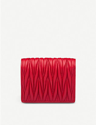 MIU MIU: Matelassé crystal mini wallet
