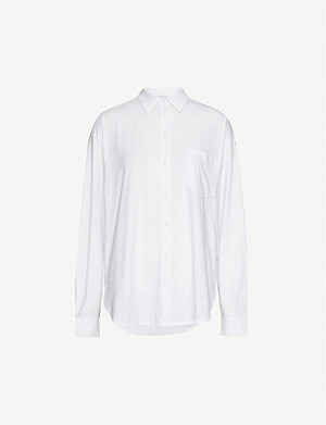 NINETY PERCENT Oversized organic cotton shirt