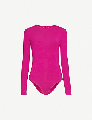 NINETY PERCENT High-neck stretch-jersey body