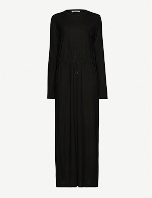 NINETY PERCENT Round-neck shift Tencel maxi dress