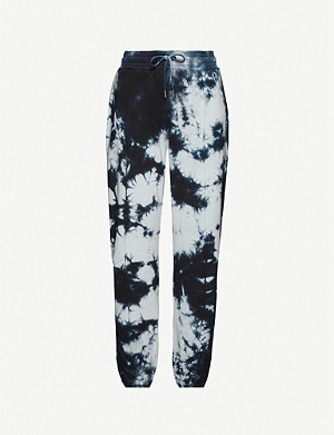 NINETY PERCENT Tie-dye print organic cotton jogging bottoms