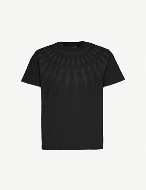 NEIL BARRETT Graphic-print cotton-jersey T-shirt