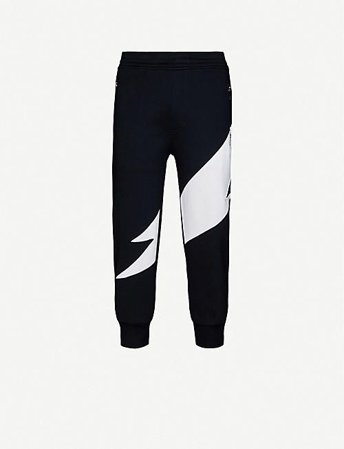 NEIL BARRETT Tapered neoprene jogging bottoms