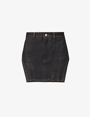FENTY: Mid-rise denim mini skirt