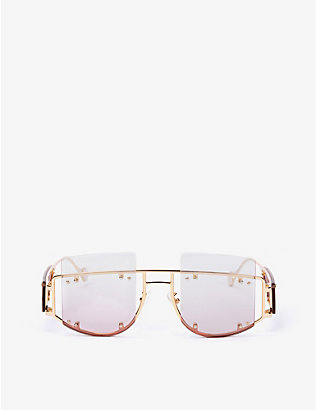 FENTY: Antisocial oversized square-frame sunglasses