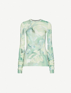 FENTY Floral-print stretch-jersey top