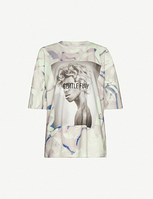 FENTY Graphic-print cotton-jersey T-shirt