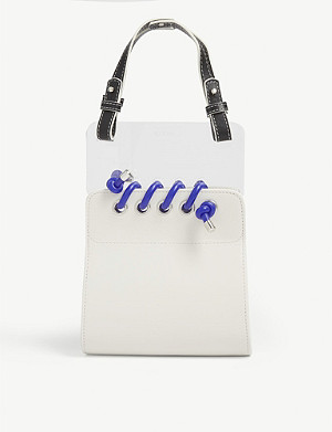 SCOTRIA Window leather and plexiglass tote bag