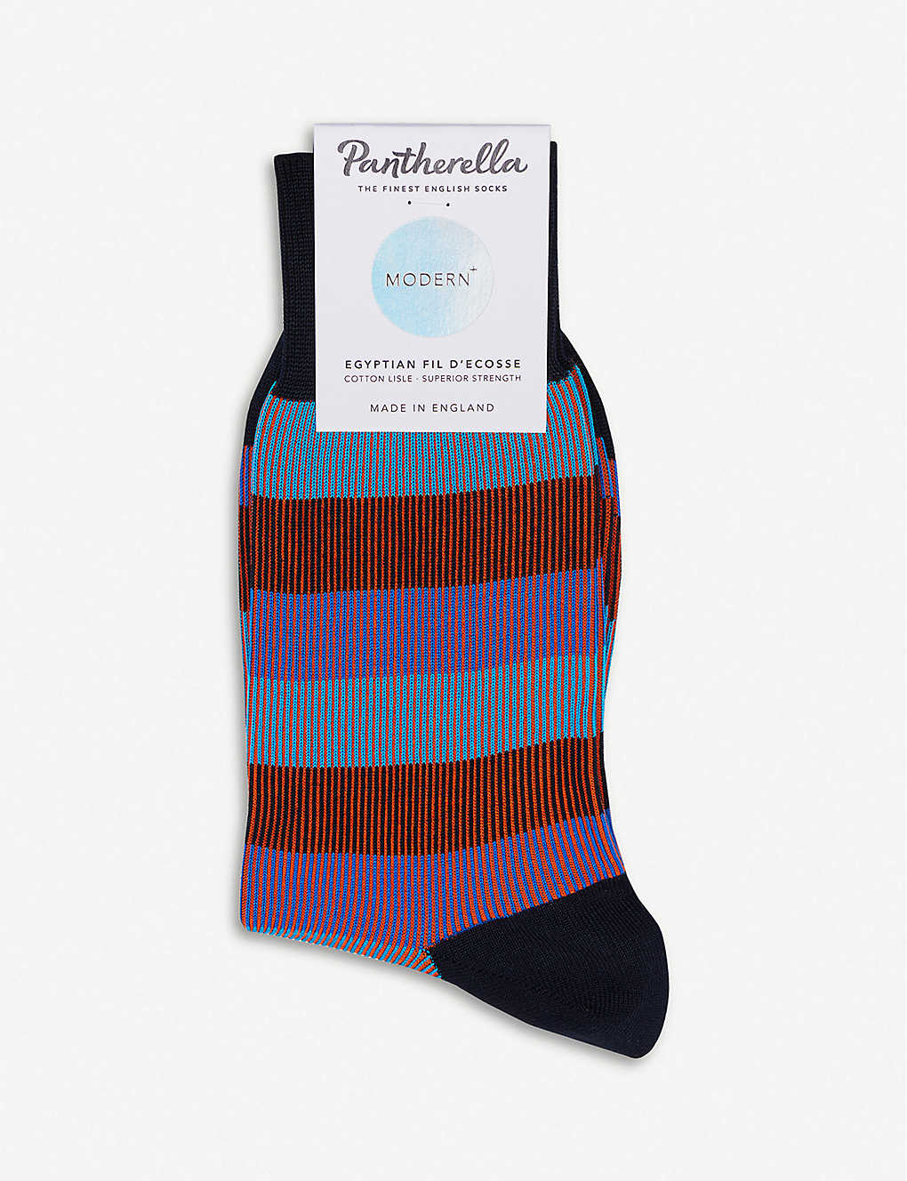 PANTHERELLA: Striped cotton-blend socks