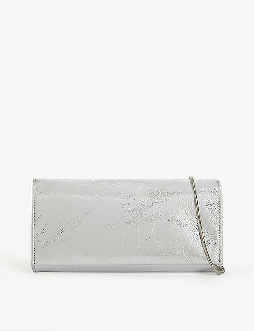 MAISON MARGIELA Metallic clutch with chain
