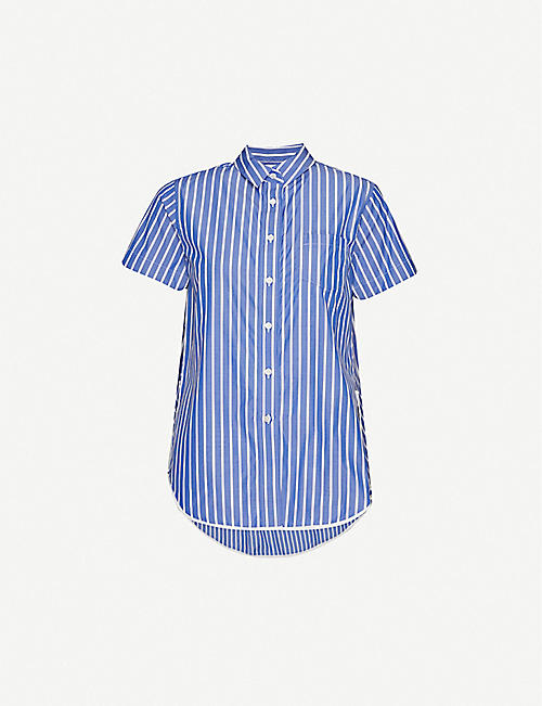 SACAI Striped cotton shirt
