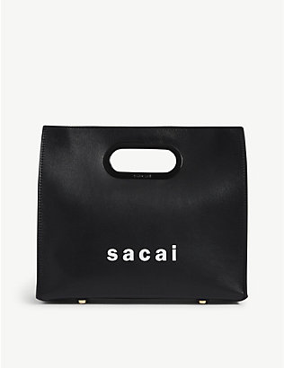 SACAI: Leather shopper bag