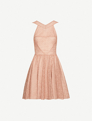 AZZEDINE ALAIA Embroidered woven mini dress