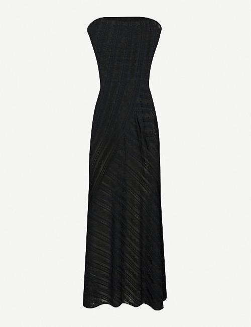 AZZEDINE ALAIA: Patterned stretch-woven maxi dress