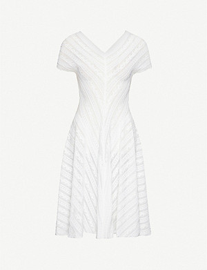 AZZEDINE ALAIA V-neck knitted midi dress