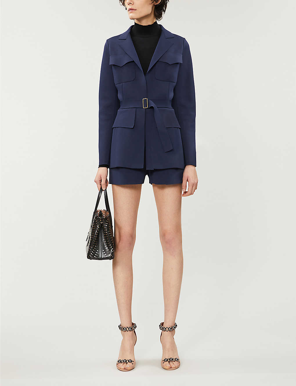 AZZEDINE ALAIA: Tailored stretch-knit blazer
