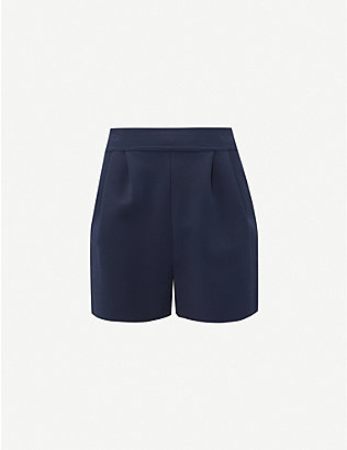 AZZEDINE ALAIA: High-rise stretch-knit shorts