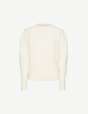 FRANKIE SHOP Puff-sleeve wool-blend jumper