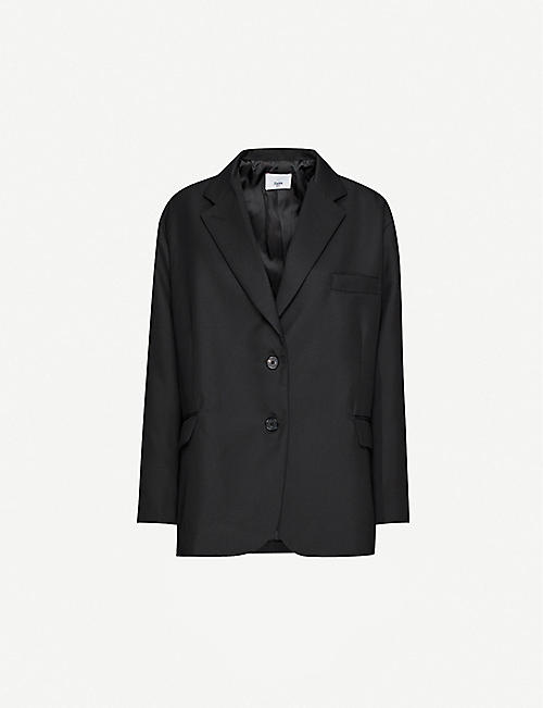 FRANKIE SHOP Single-breasted stretch-twill blazer