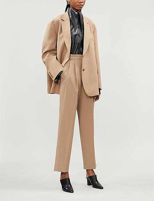 FRANKIE SHOP Bea oversized stretch-twill blazer
