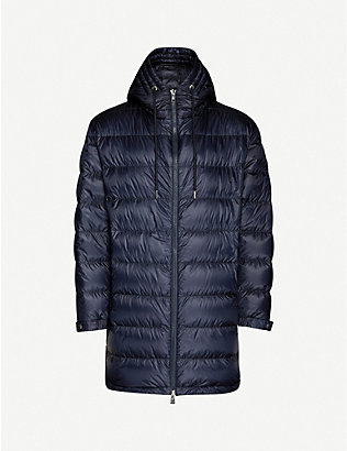 MONCLER: Trayas longline shell-down coat