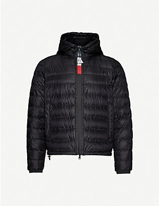 MONCLER: Rook hooded shell-down jacket
