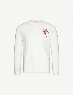 MONCLER Graphic-print long-sleeve cotton-jersey T-shirt