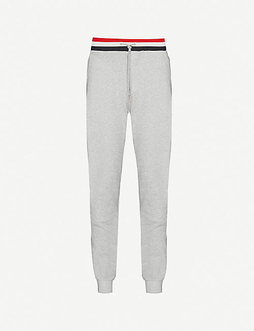MONCLER Ribbed slim-fit cotton-jersey jogging bottoms