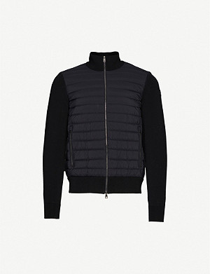 MONCLER Quilted shell-down sweatshirt