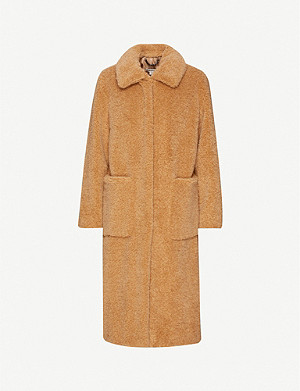 WHISTLES Teddy faux-fur coat