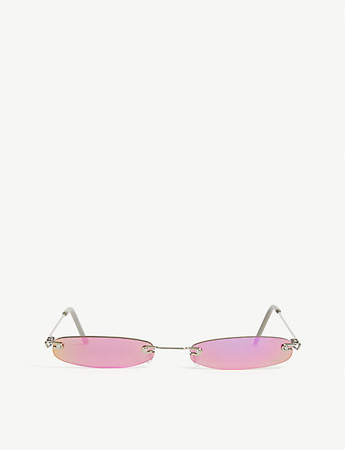 CHRISTIANAH JONES: Oval-frame sunglasses