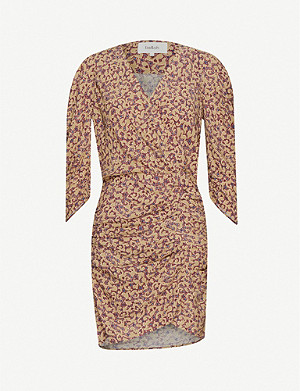 BA&SH Crystal floral-print crepe dress