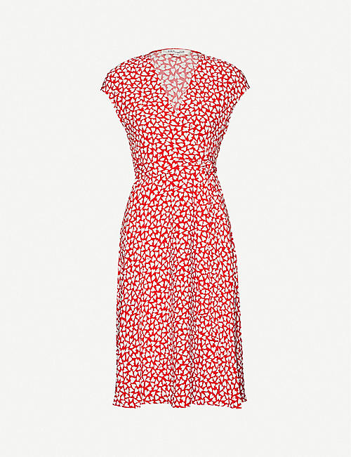 DIANE VON FURSTENBERG Goldie heart-print crepe dress