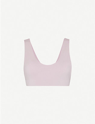 LES GIRLS LES BOYS: Semi-sheer stretch-jersey bra