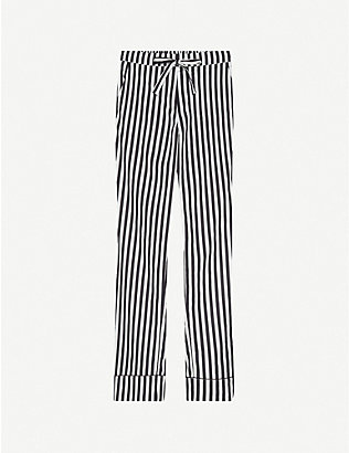 LES GIRLS LES BOYS: Striped cotton-poplin pyjama trousers