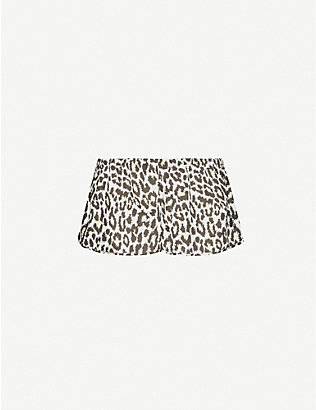 LES GIRLS LES BOYS: Leopard-print cotton-poplin pyjama shorts