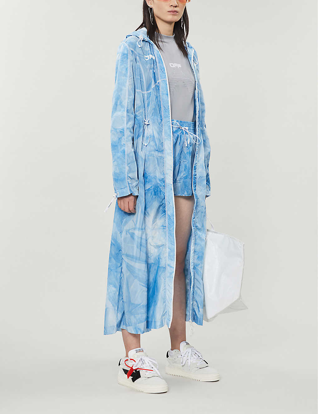 OFF-WHITE C/O VIRGIL ABLOH: Tie-dye print shell coat