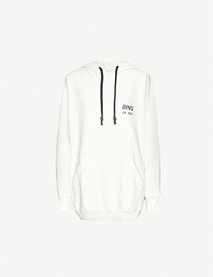 NONE Lottie logo-print cotton-jersey hoody