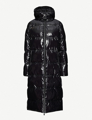 none Mary longline puffer shell coat