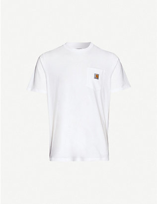CARHARTT WIP: Logo-patch cotton-jersey T-shirt