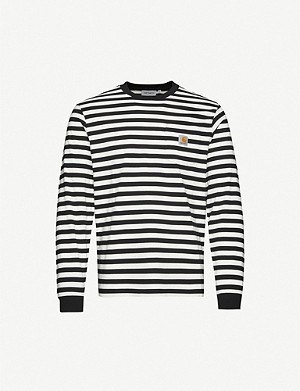 CARHARTT WIP Scotty striped cotton-jersey top