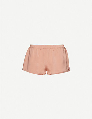 LOVE STORIES: Brad mid-rise silk shorts